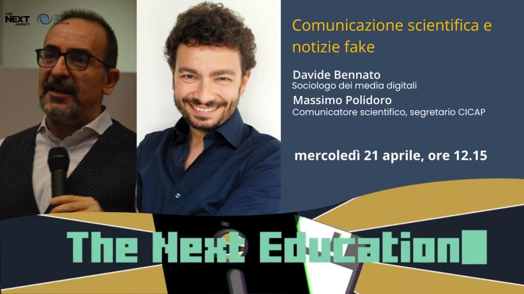 2021-04-14-TheNextEducation-scienza-complotti-Polidoro-Bennato